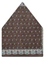 Tiekart Polka Print Silk Pocket Square (Ps450_Brown)