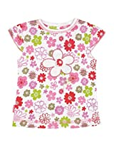 Baby Pop Cap Sleeve Tee | Flower Print
