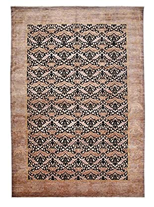 Darya Rugs Modern Oriental Rug, Brown/Grey, 9' 10
