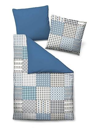 Biberna 635331/282/001 Satin Bettwäsche (Blau)