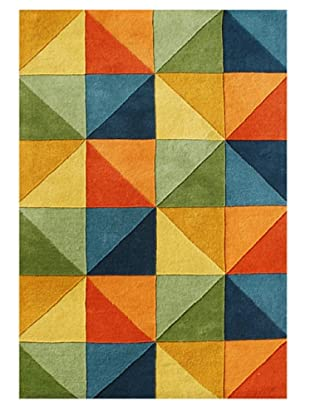 Horizon Rugs New Zealand Wool Rug (Yellow/Tan/Blue Multi)