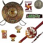 Rajasthani Sword Armour Wall Clock n Mauli Rakhi 118-DLR4GH118_1