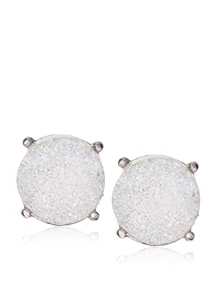 Anzie Drusy Stud Earrings , White and Silver