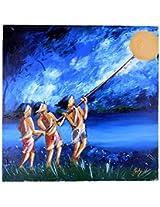 Liflad Artmart Acrylic and Canvas Untitled Painting (51 cm x 51 cm)