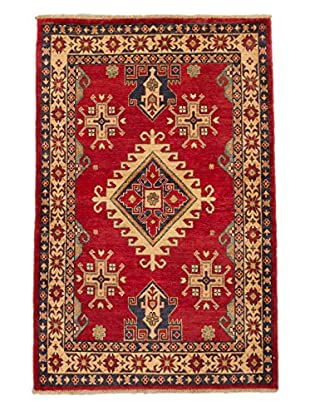 eCarpet Gallery One-of-a-Kind Hand-Knotted Gazni Rug, Red, 4' x 6' 2