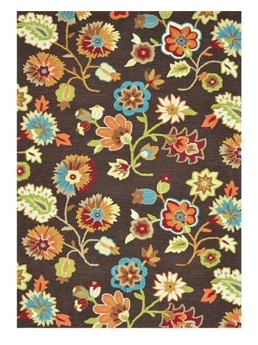 Loloi Rugs Juliana Collection Rug (Brown/Floral)
