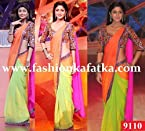 Indian Bollywood Shilpa Shetty Replica Gorgeous Party Wear & Wedding Wear Stunning Look Bridal Saree sari