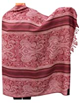 Womens Paisley Wool Shawl Wrap Gift India Clothing (82 x 42 inches)