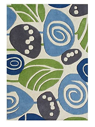 Alliyah Rugs Alliyah Collection (White/Green/Blue)