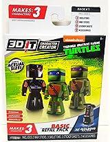 Nickelodeon Teenage Mutant Ninja Turtles 3 D It Character Creator Basic Refill Pack Shredder Leonardo & Donatello