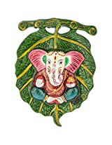 Handicraft Bazaar Welcome Leaf Ganesha For Wall Décor