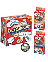 Faux Cabulary The Wild Word Game Complete Set (Includes Both Party Games Expansion 1 And Expansion 2)