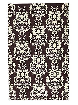 Kavi Handwoven Rugs Contemporary Rug (Brown/Ivory)