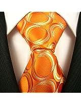 Neckties By Scott Allan - Geometric Burnt Orange Men's Tie