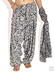 Monochrome Paisley Dupatta Patiala Set-Black-FS