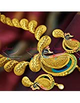 One Gram Gold Plated Beautiful Real Look Intricate Peacock Design Jewellery Screwback Earrings Online