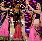 Stylelok Net Bollywood Pink and Black Party Wear Saree SL 65103