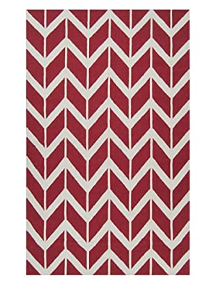 Surya Fallon Rug (Venetian Red/White)
