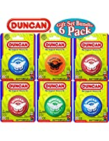Duncan Yo-Yo Butterfly Gift Set Bundle - 6 Pack (Assorted Colors)