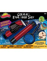 POOF-Slinky - Scientific Explorer Galileo Explorer Set with 40x Microscope, 12x30 Telescope and 4x60 Magnifier, 0SA404BL