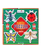 Creative's - Early Puzzles - 4 Shaped Puzzles Insects
