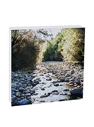 Art Block Rocky Stream - Fine Art Photography On Lacquered Wood Blocks