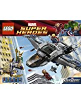 Includes 5 Minifigures: Thor Iron Man Black Widow Loki And Foot Soldier - LEGO Quinjet Aerial Battle 6869