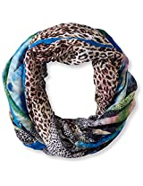 La Fiorentina Women's Animal Abstract Ombre Scarf, Blue, One Size