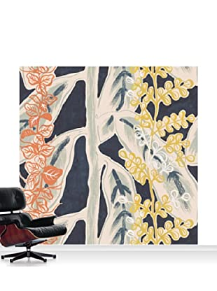Lana Mackinnon Leaves Mural, Standard, 8' x 8'