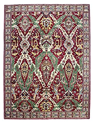 Bashian Hand Knotted Indo Rug, Red, 9' x 12'