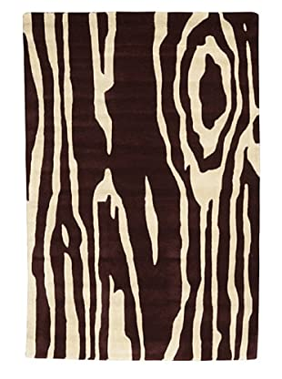 Kavi Handwoven Rugs Contemporary Rug, Burgundy/Ivory, 4' x 6'