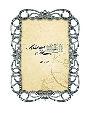 Ashleigh Manor Openwork Metal Photo Frame with Crystals