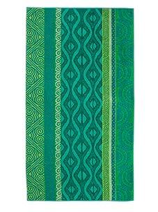Arkhipelagos Waves Beach Towel (Green)