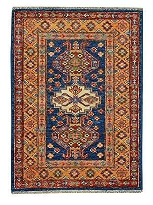 Kalaty One-of-a-Kind Kazak Rug, Blue/Gold, 1' 10