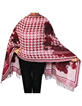 Jamawar Boiled Wool Shawl Scarf Womens Wrap India Clothing (80 x 27 inches)