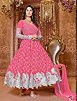 Thankar New Attractive Designer Georgette Peach Anarkali Suit