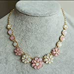 Multi-colored bubble flower design vintage necklace