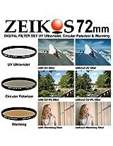 Zeikos ZE-FKS72 72mm Glass Ultra Slim Filter Kit (UV-CPL-W)