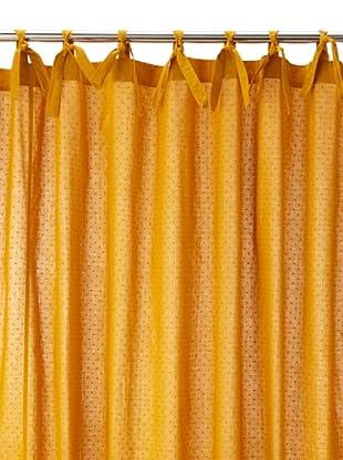 Coyuchi Swiss Dot Shower Curtain, Mustard