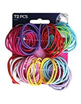 Goody Ouchless No Metal Gentle Elastics, Assorted Colors, 72 Pack