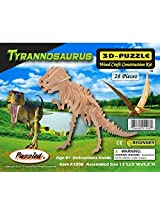 Puzzled Tyrannosaurus Wooden 3D Puzzle Construction Kit