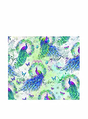 Punch Studio Set of 8 Continuous Roll Gift Wrap (Peacock Wreath)