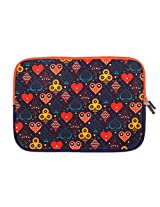 Chumbak  CLAP020-11 11-inch Taash Laptop Sleeve (Multicolor)