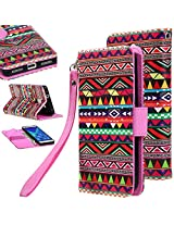 Honor 7 case, E LV Huawei Honor 7 Flip Folio Wallet Case Cover - Deluxe PU Leather Flip Wallet Case Cover for Huawei Honor 7 - TRIBAL