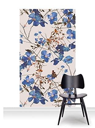 Michael Angove Clematis Powder Blue Mural (Accent)