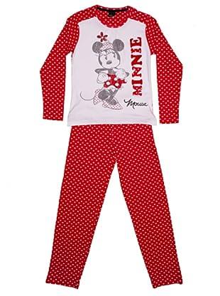 Disney Pijama Niña Minnie Manga Larga (Rojo)