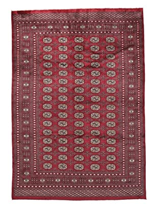 Rug Republic One Of A Kind Bokhara Hand Knotted Rug, Bokhara Red/Multi, 6' x 8' 1