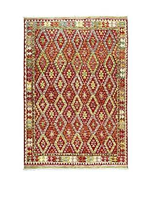 L'Eden del Tappeto Teppich Kilimp-Vegetale mehrfarbig 297t x t205 cm