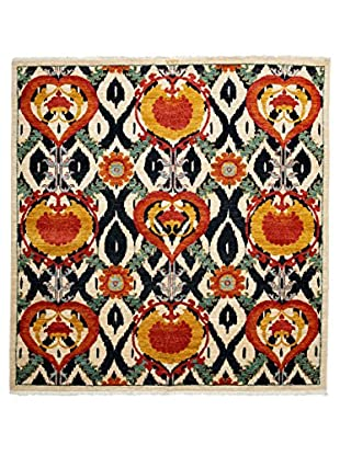 Darya Rugs Suzani Oriental Rug, Orange, 6' 1