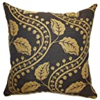 The Pillow Collection Uzma Floral Pillow, Brown
